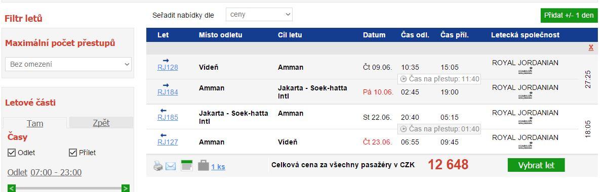 Indonésie - Jakarta - 12 648 Kč