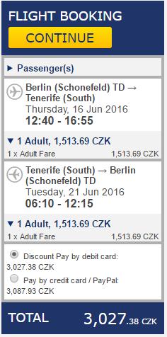 Tenerife z Berlína - 3027 Kč