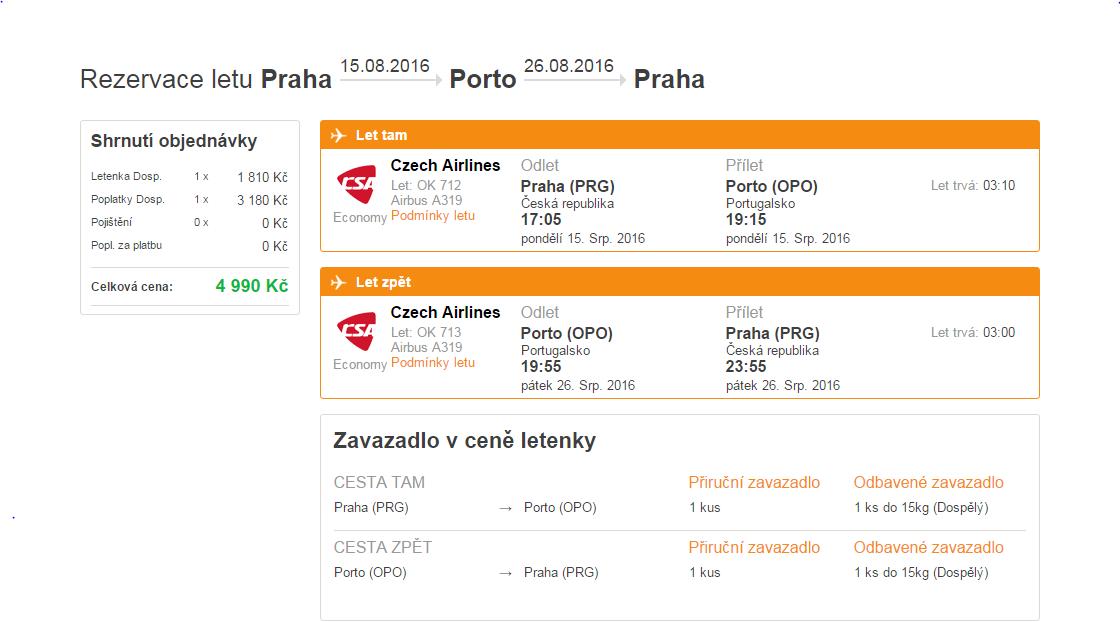 Letní Porto z Prahy - 4 990 Kč