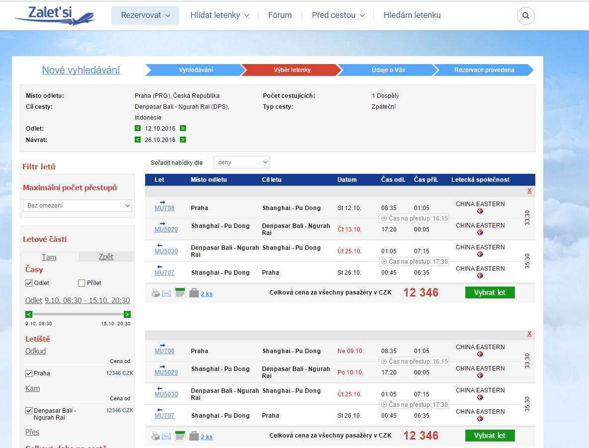 Akce China Eastern: Bali 12 346 Kč, Manila 12 270 Kč a další...