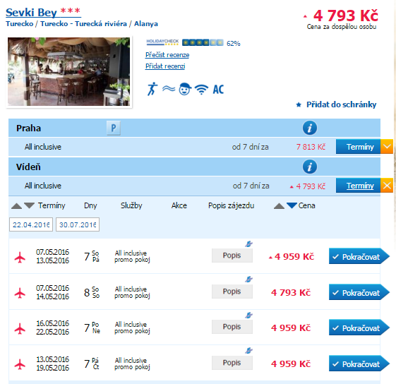 Turecká riviéra - all inclusive - 4793 Kč