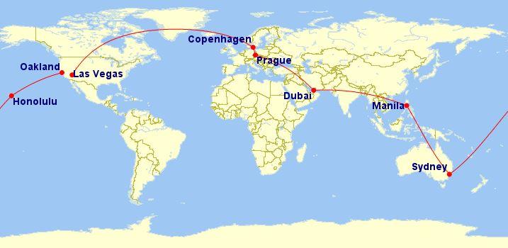 Cesta kolem světa – 26 713 Kč