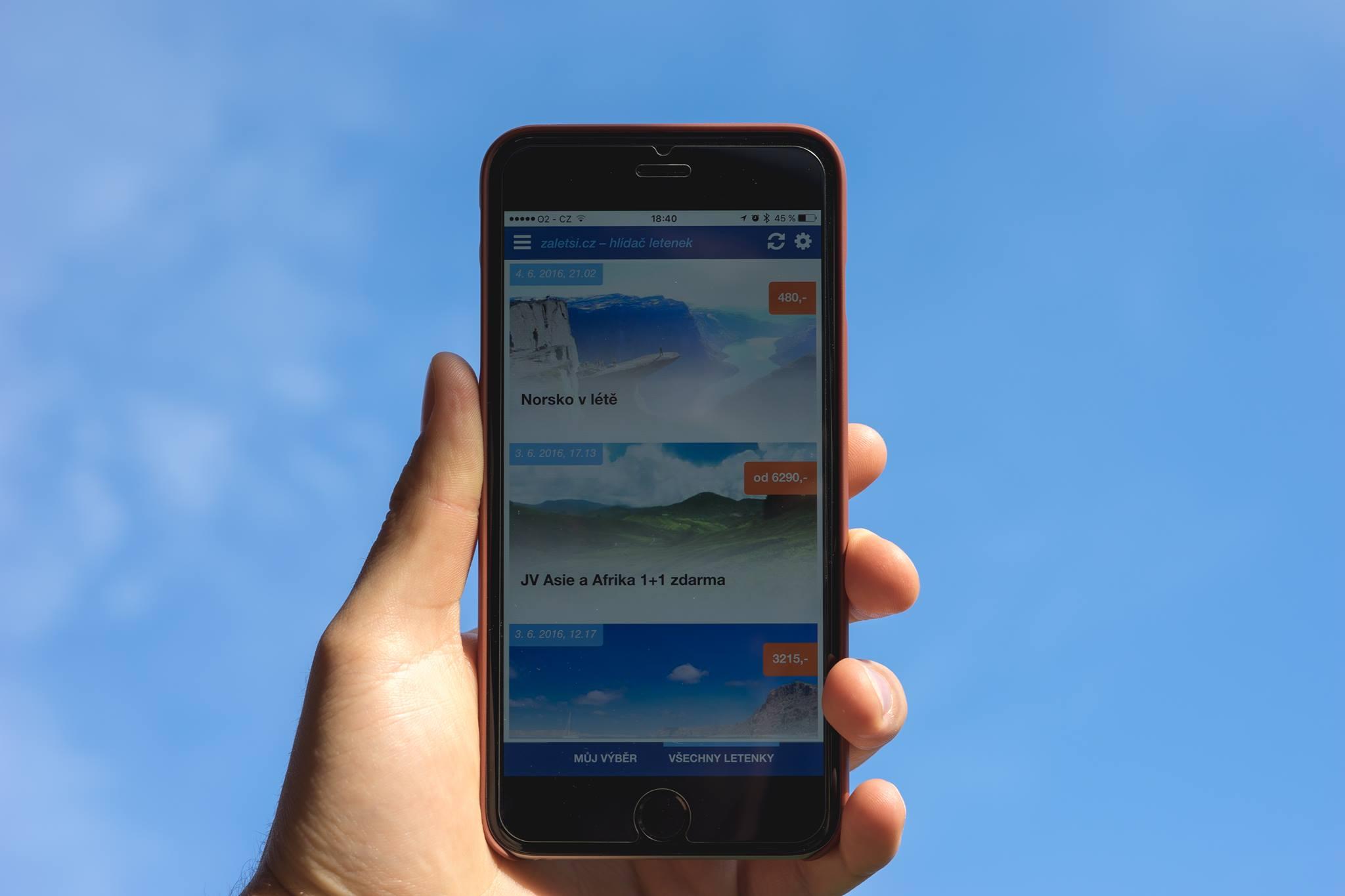 Mobilní aplikace pro iOS – Hlídač letenek