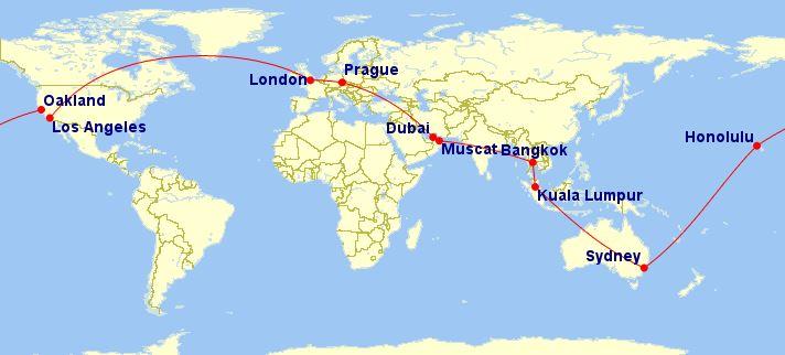 Cesta kolem světa – 22 411 Kč