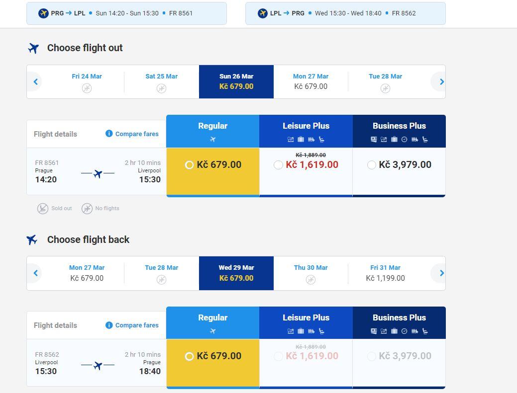 Nová linka Ryanairu z Prahy - Liverpool