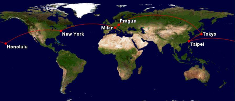 Cesta kolem světa – 31378 Kč