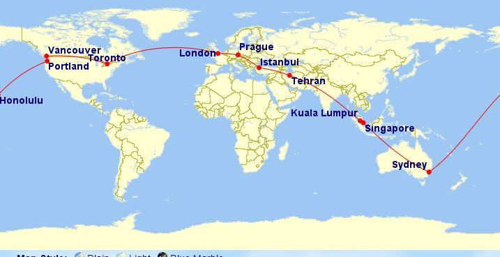 Cesta kolem světa – 30 669 Kč