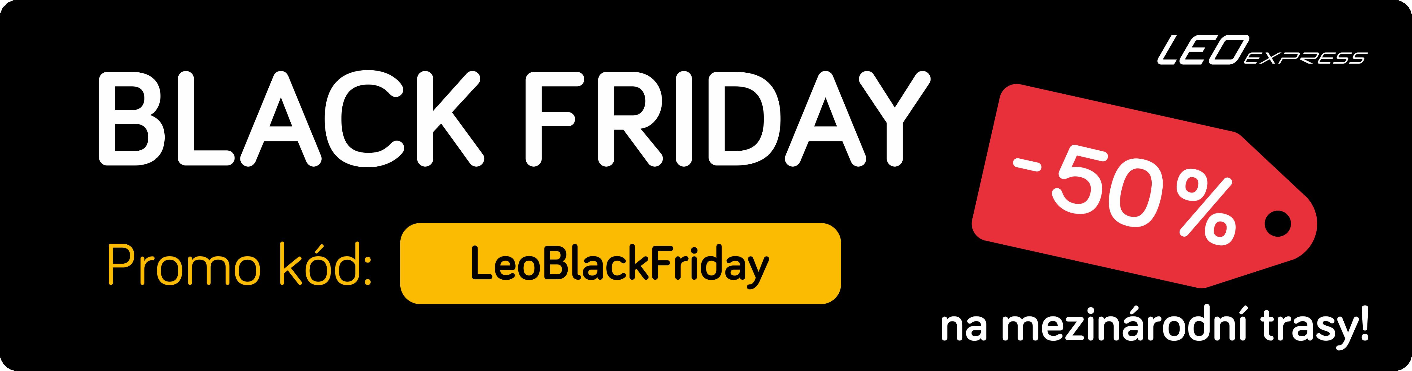 Black Friday podle Leo Express: 50% sleva na zahraniční linky