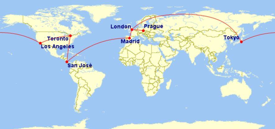 Cesta kolem světa – 28 528 Kč