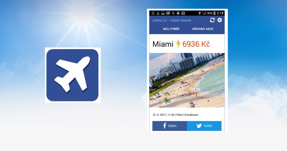Mobilní aplikace 2.0 Hlídač letenek