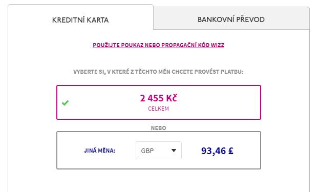 Jak koupit letenku u Wizzairu?