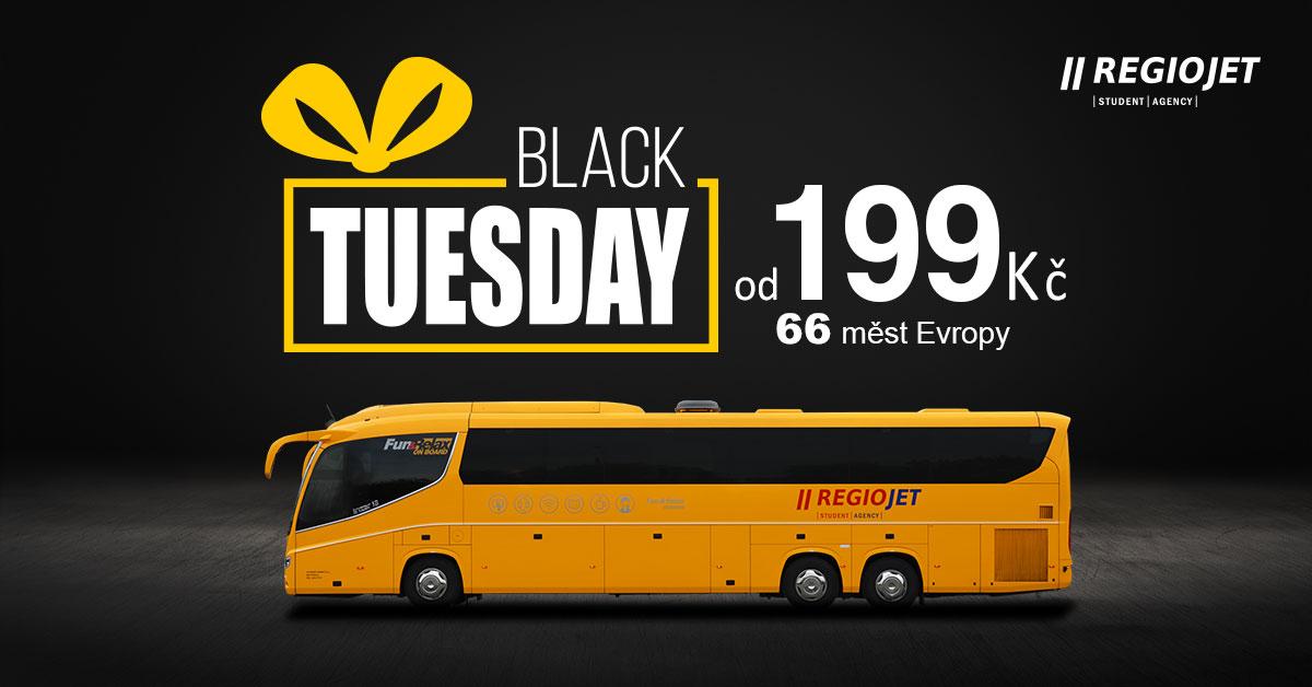 Black Tuesday: Regiojet – jízdenky po Evropě za 398 Kč