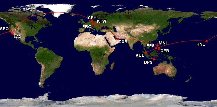 Cesta kolem světa za 25 467 Kč