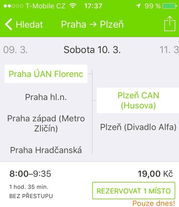 Jízdenky po ČR s Flixbusem za 19 Kč