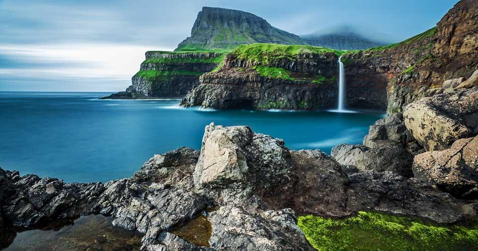 Faerské ostrovy v létě