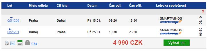 Dubaj z Prahy - 4990 Kč