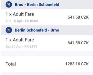 Nová linka: Brno - Berlín Schönefeld