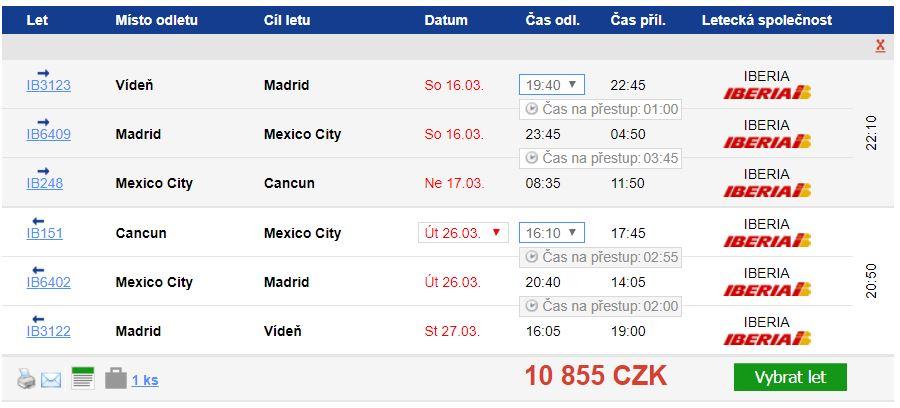 Mexiko z Vídně od 10 855 Kč