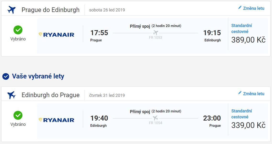 Edinburgh na pár dnů z Prahy od 728 Kč