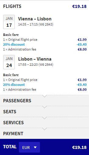 Lisabon z Vídně od 497 Kč