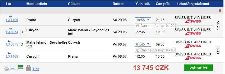 Seychely v létě - 13 745 Kč