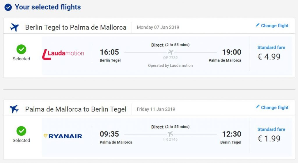 Mallorca z Berlína za 182 Kč