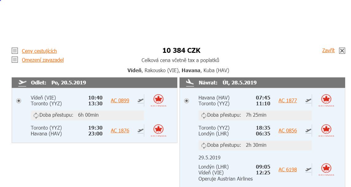 Kuba z Vídně za 10 384 Kč