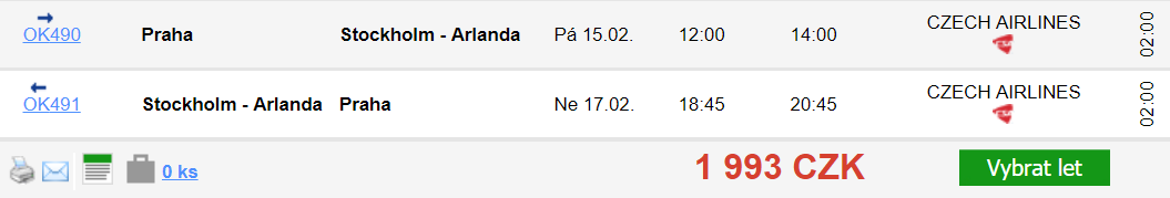 Stockholm z Prahy na prodloužený víkend za 1 993 Kč