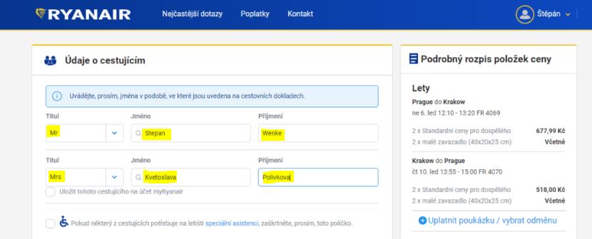 Jak koupit letenku u Ryanairu?