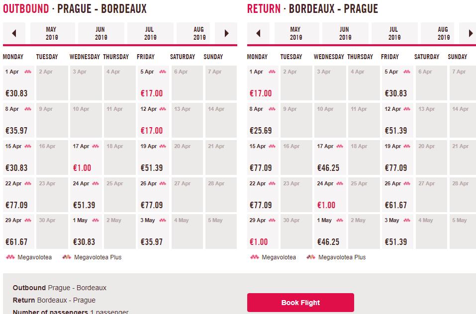 Letenky s Voloteou z Prahy za 1 €