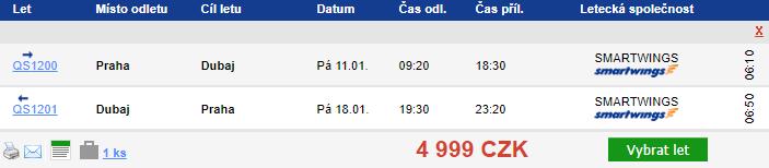 Dubaj z Prahy - 4999 Kč