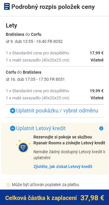 Jarní Korfu z Bratislavy za 975 Kč