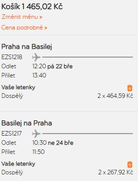 Basilej z Prahy na prodloužený víkend za 733 Kč