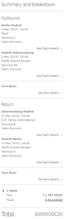 Johannesburg z Berlína za 8 899 Kč