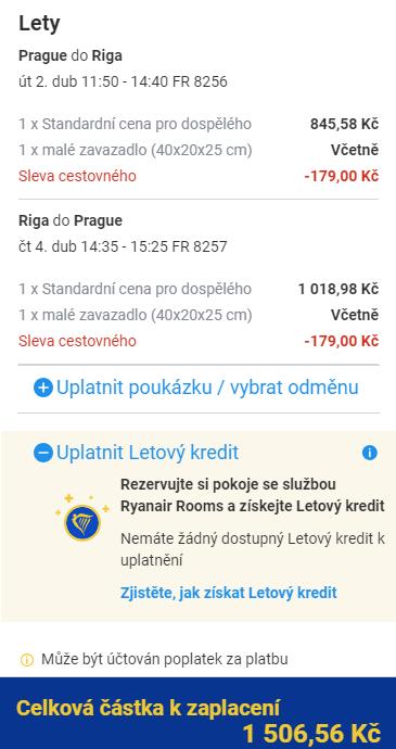 Lotyšsko - Riga z Prahy za 1 507 Kč