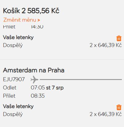 Letní Amsterdam z Prahy za 1 293 Kč