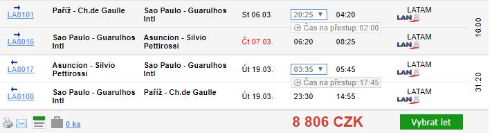 3v1: Paříž, Paraguay a Sao Paulo z Prahy za 11 456 Kč