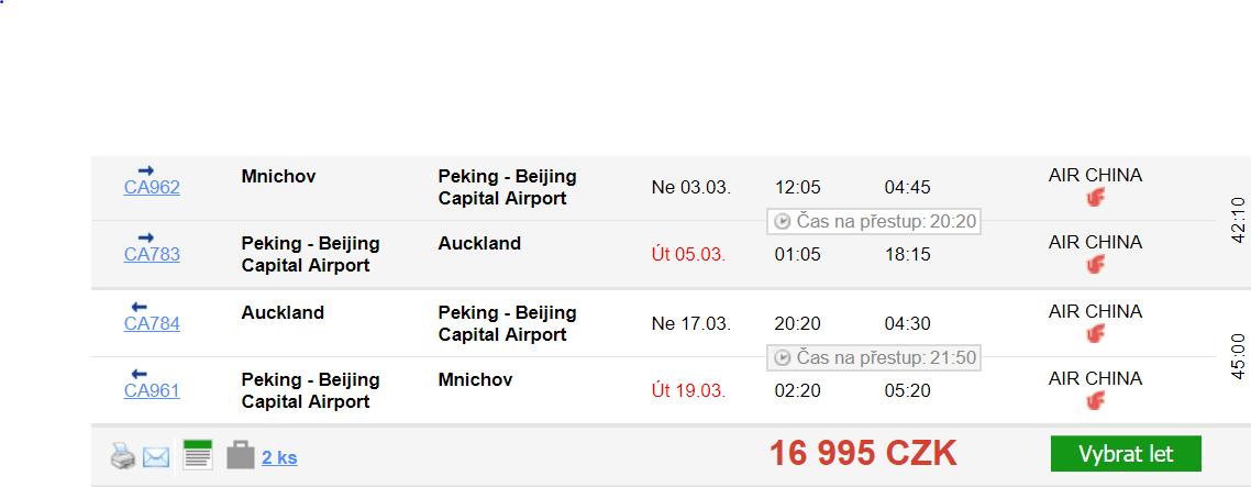 Nový Zéland z Mnichova za 16 995 Kč