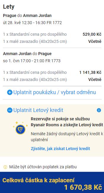 Jordánsko - Ammán z Prahy za 1 670 Kč