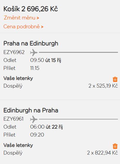 Skotsko - Edinburgh z Prahy za 1 348 Kč