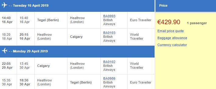 Kanada - Calgary z Berlína za 11 004 Kč