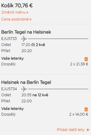 Helsinky z Berlína za 899 Kč