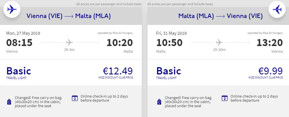 Malta z Vídně od 577 Kč