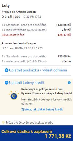 Jordánsko - Ammán z Prahy za 1 771 Kč