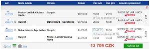 Seychely z Prahy za 13 709 Kč