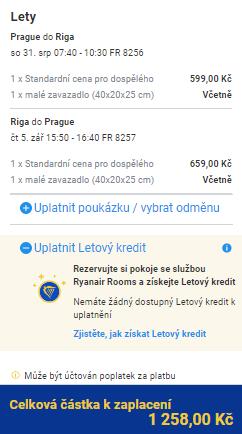 Lotyšsko - Riga z Prahy za 1 258 Kč