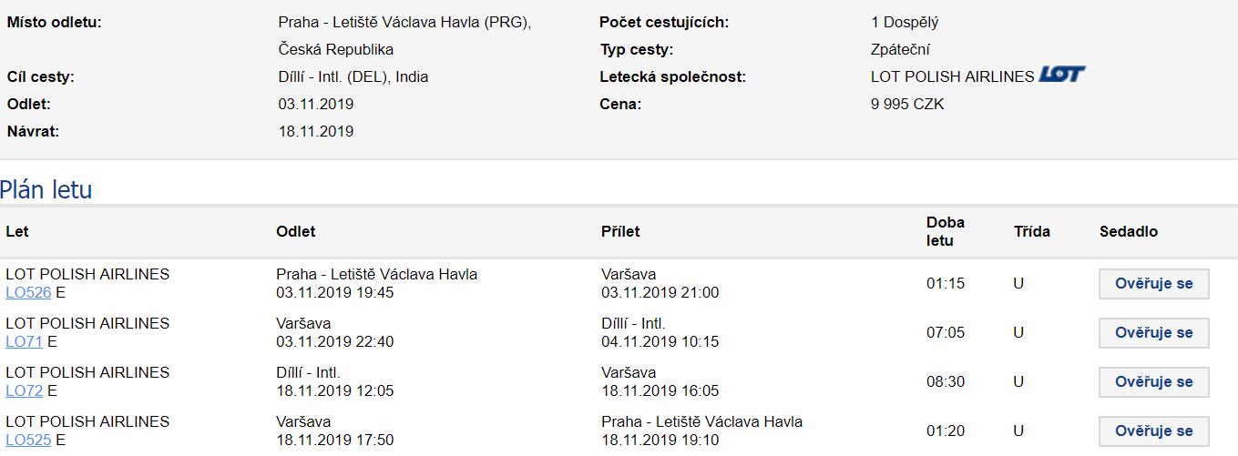 Indie - Dillí z Prahy za 9 995 Kč