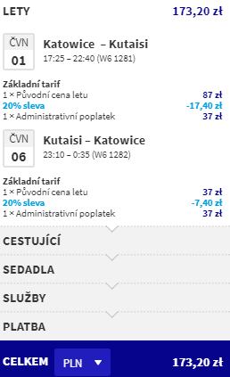 Gruzie - Kutaisi z Prahy za 1 588 Kč