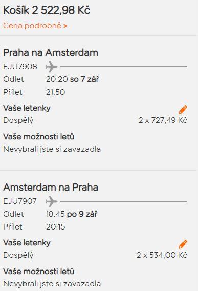 Podzimní Amsterdam z Prahy od 1 261 Kč