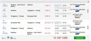 Bali z polských letišť za 13 395 Kč